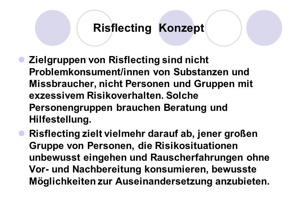 Risflecting Konzept