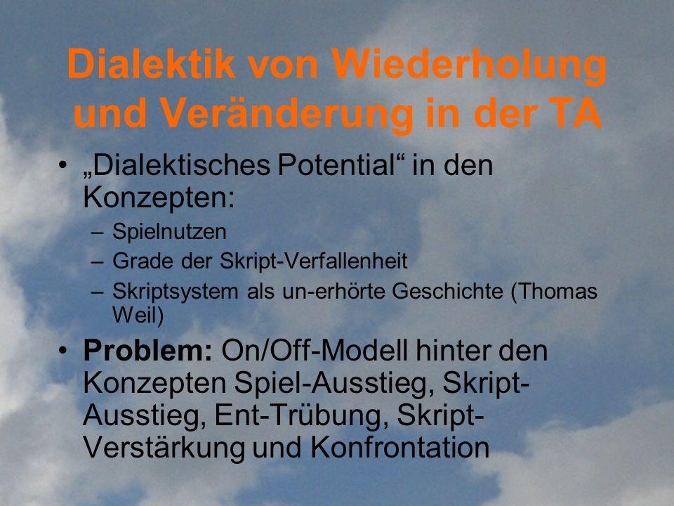 Dialektik von Wiederholung und Veränderung in der TA