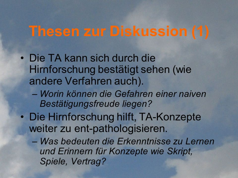 Thesen zur Diskussion (1)