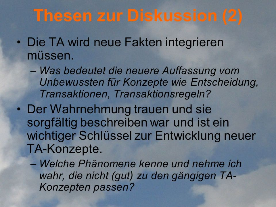 Thesen zur Diskussion (2)