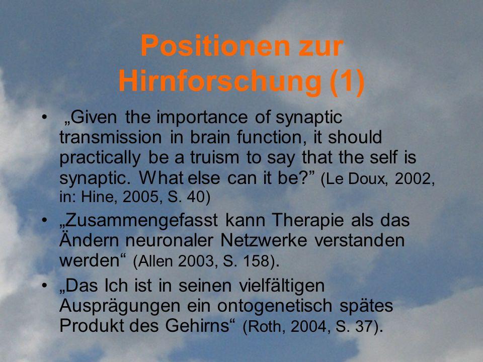 Positionen zur Hirnforschung (1)