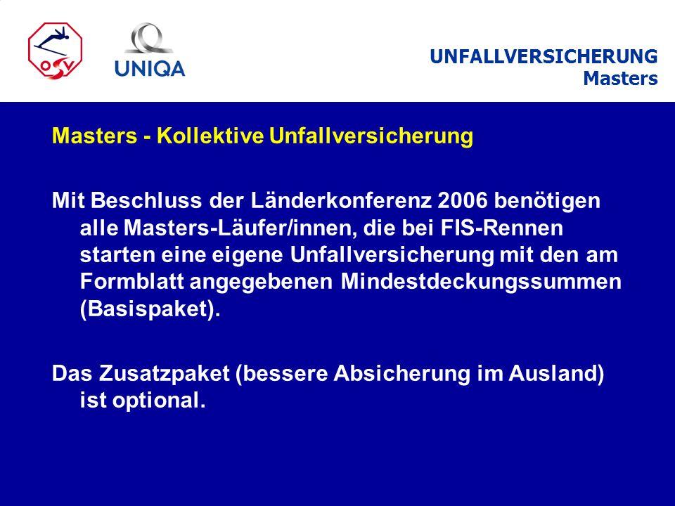 Masters - Kollektive Unfallversicherung