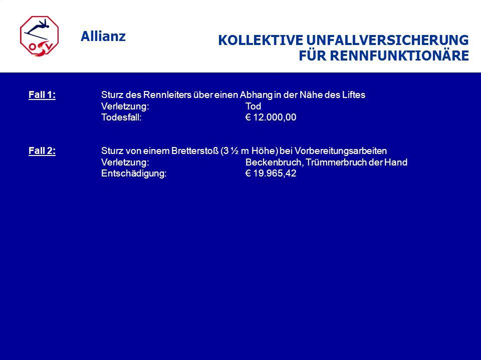 KOLLEKTIVE UNFALLVERSICHERUNG FÜR RENNFUNKTIONÄRE