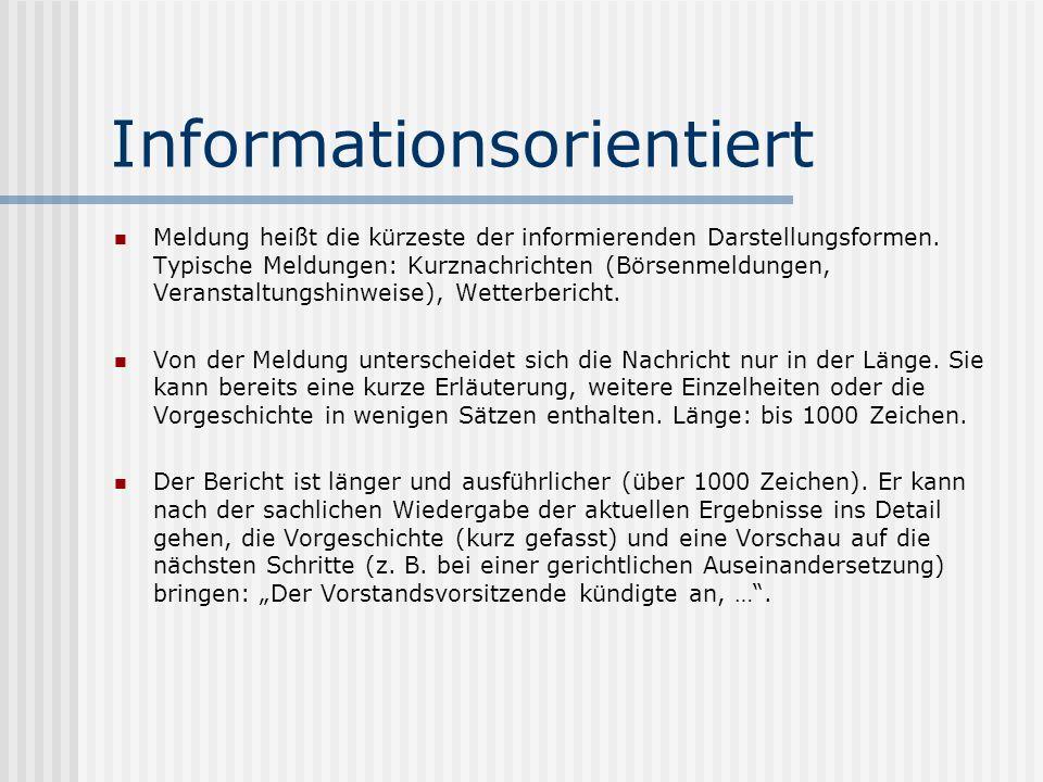 Informationsorientiert