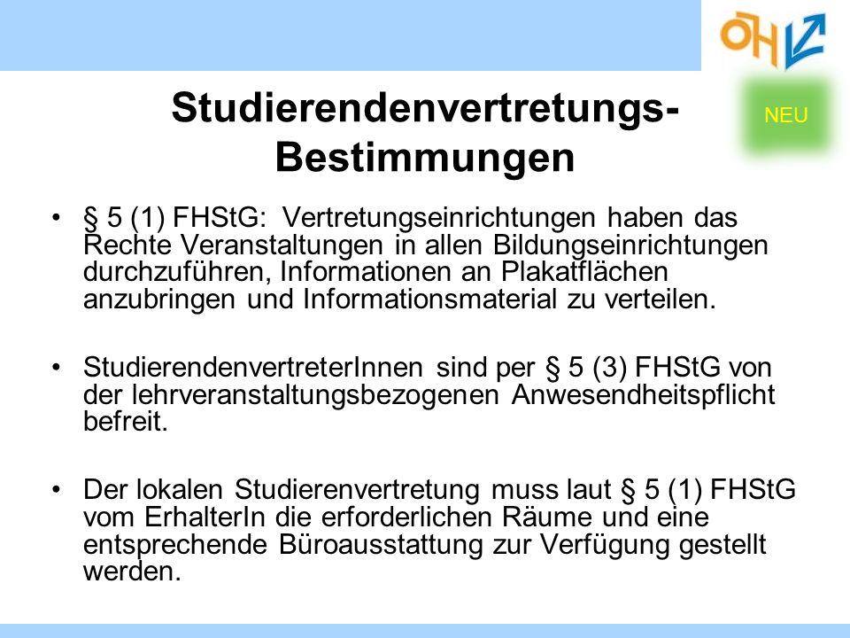 Studierendenvertretungs-Bestimmungen