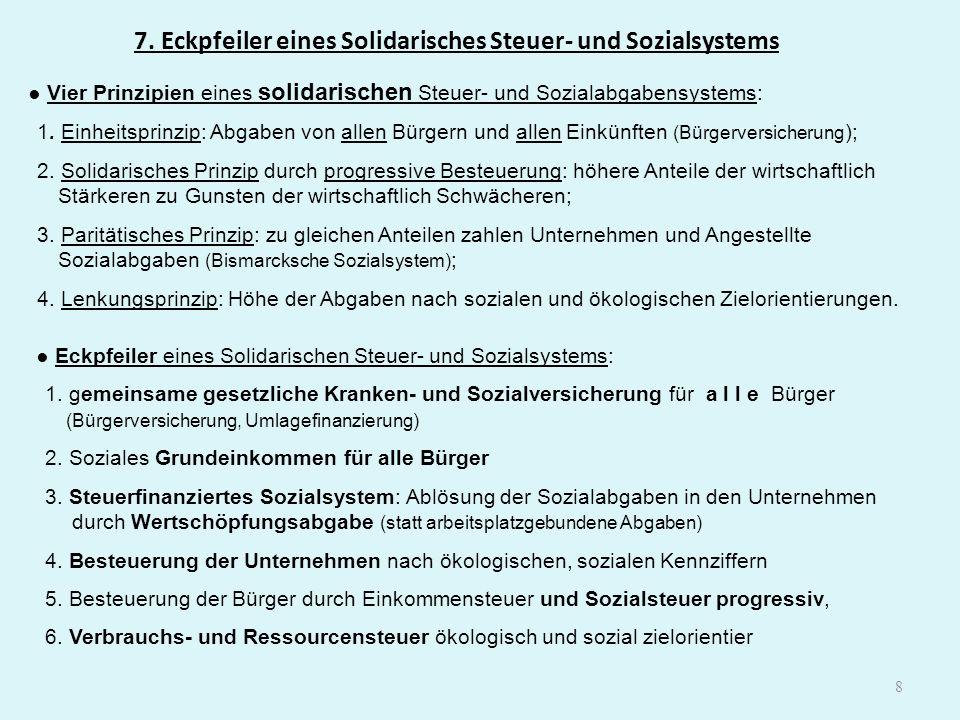 7. Eckpfeiler eines Solidarisches Steuer- und Sozialsystems