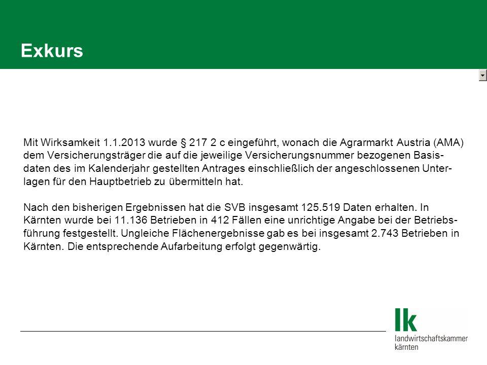 Exkurs Mit Wirksamkeit 1.1.2013 wurde § 217 2 c eingeführt, wonach die Agrarmarkt Austria (AMA)