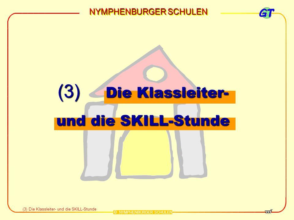 (3) Die Klassleiter- und die SKILL-Stunde