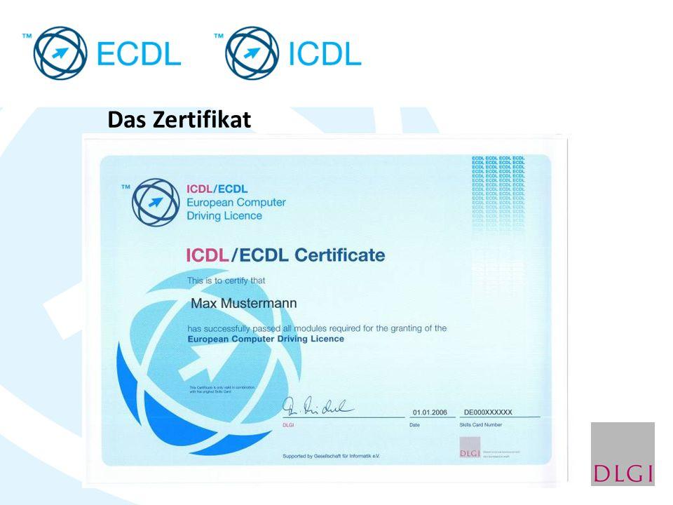 Das Zertifikat