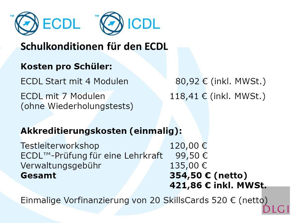 Schulkonditionen für den ECDL