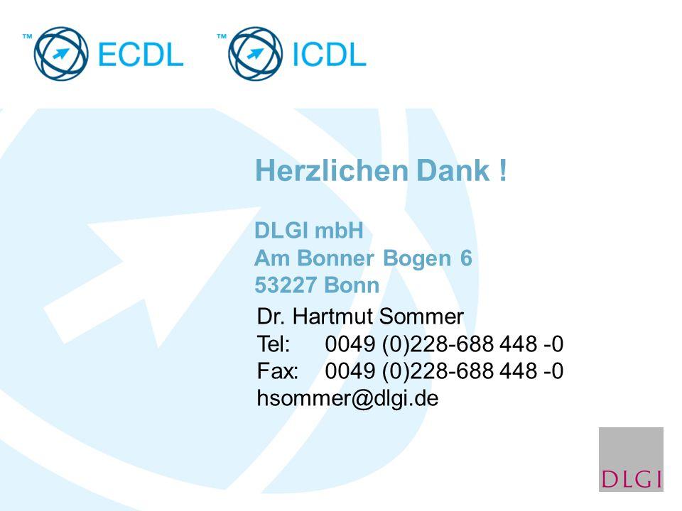 Herzlichen Dank ! DLGI mbH Am Bonner Bogen 6 53227 Bonn