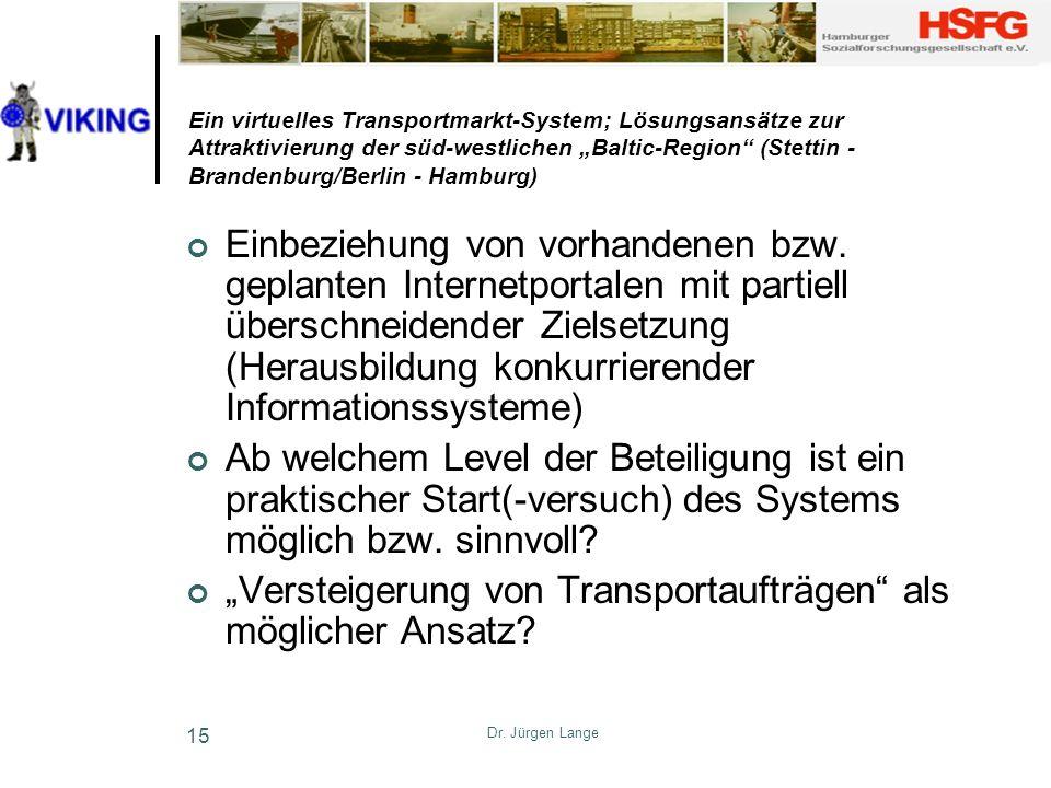 """""""Versteigerung von Transportaufträgen als möglicher Ansatz"""