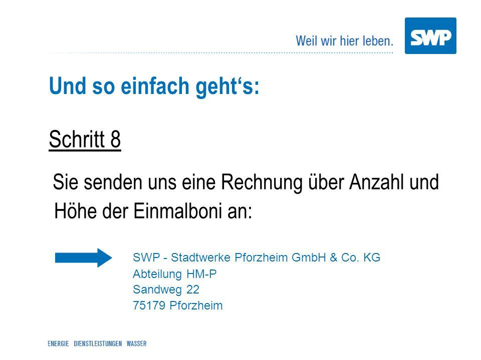 SWP - Stadtwerke Pforzheim GmbH & Co. KG Abteilung HM-P