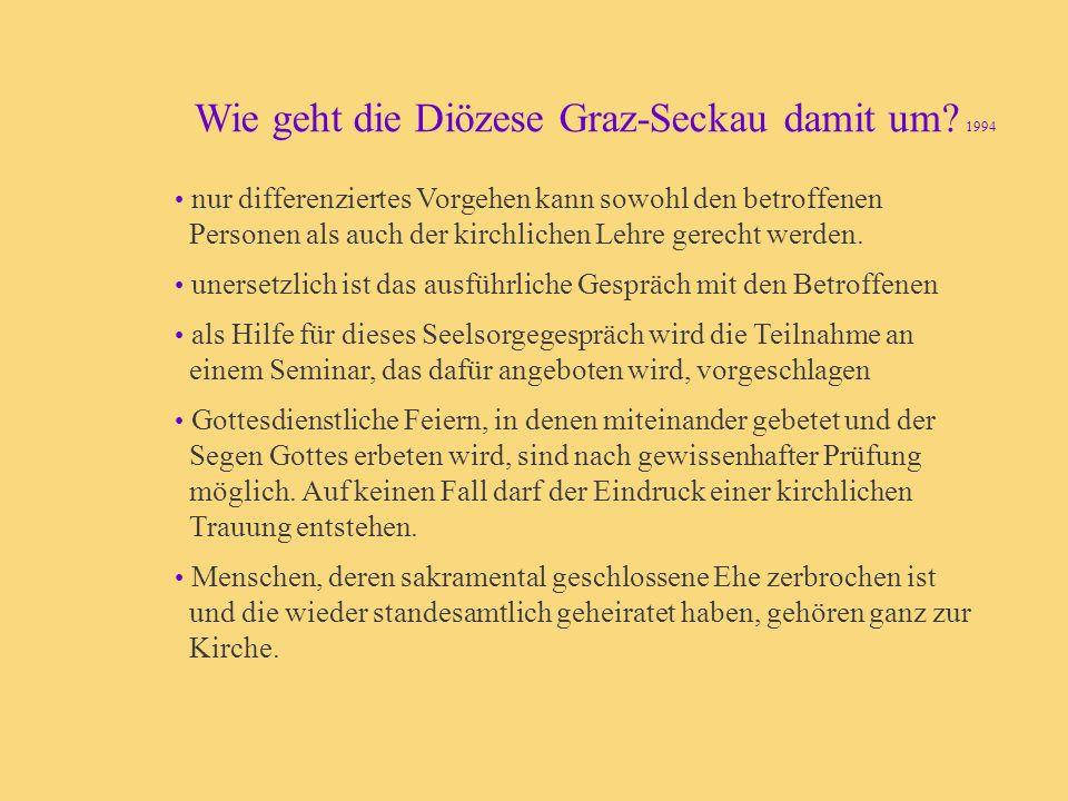 Wie geht die Diözese Graz-Seckau damit um 1994