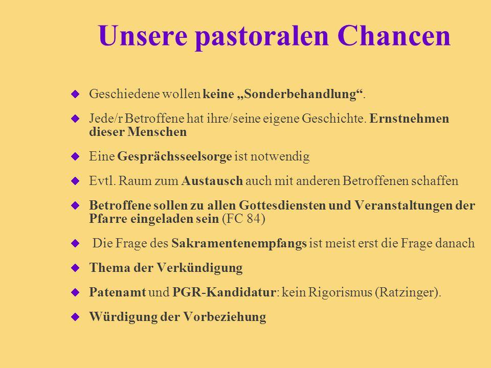 Unsere pastoralen Chancen