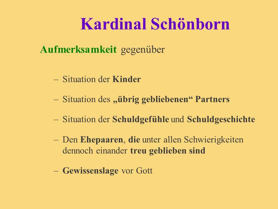 Kardinal Schönborn Aufmerksamkeit gegenüber Situation der Kinder