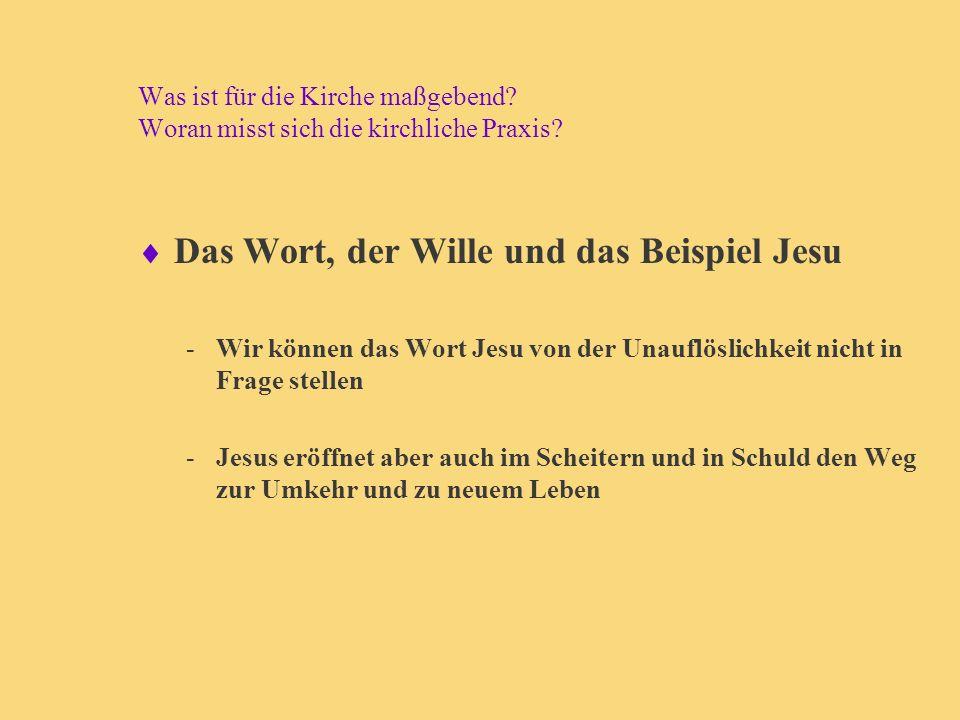 Das Wort, der Wille und das Beispiel Jesu