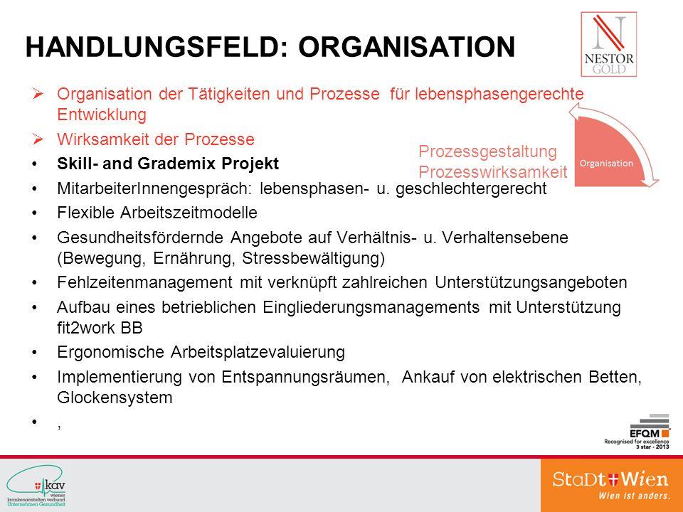 HANDLUNGSFELD: ORGANISATION