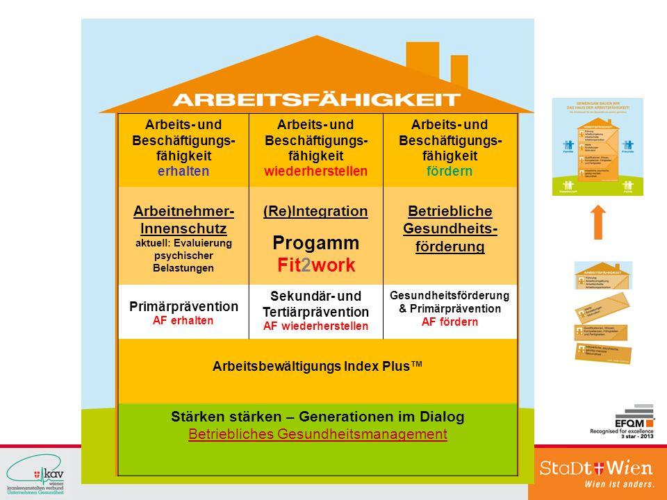 Progamm Fit2work Arbeitnehmer-Innenschutz (Re)Integration