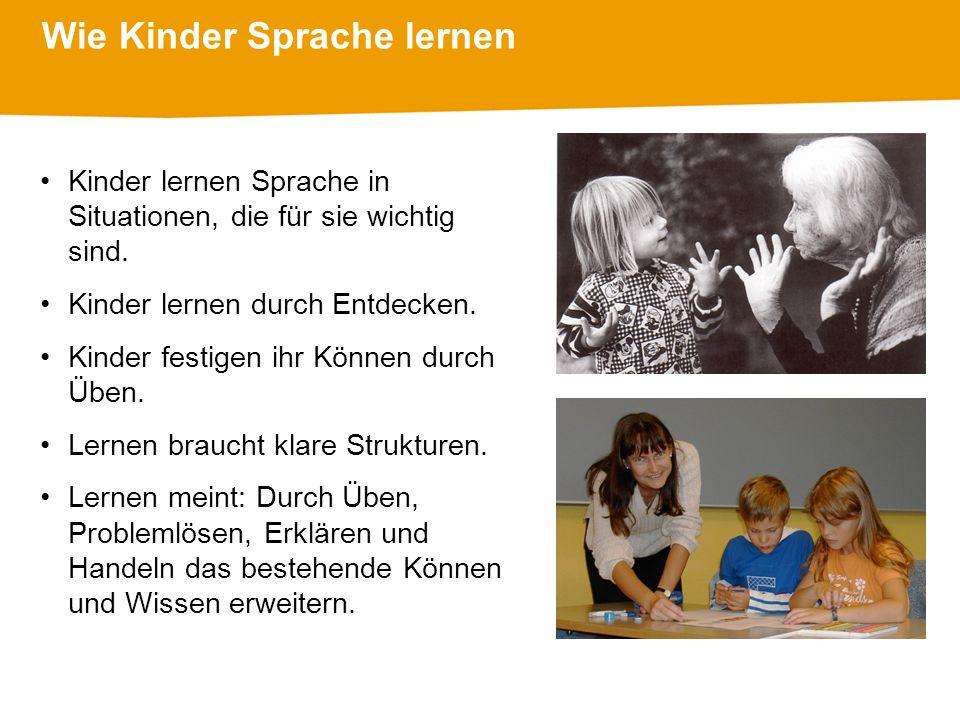 Wie Kinder Sprache lernen