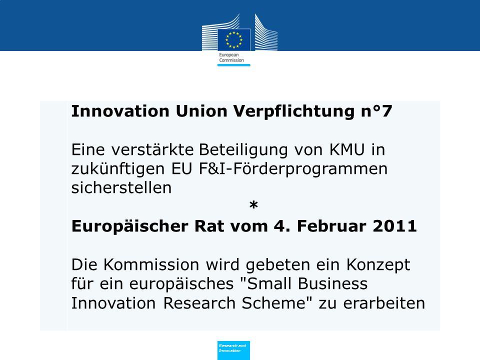 Innovation Union Verpflichtung n°7