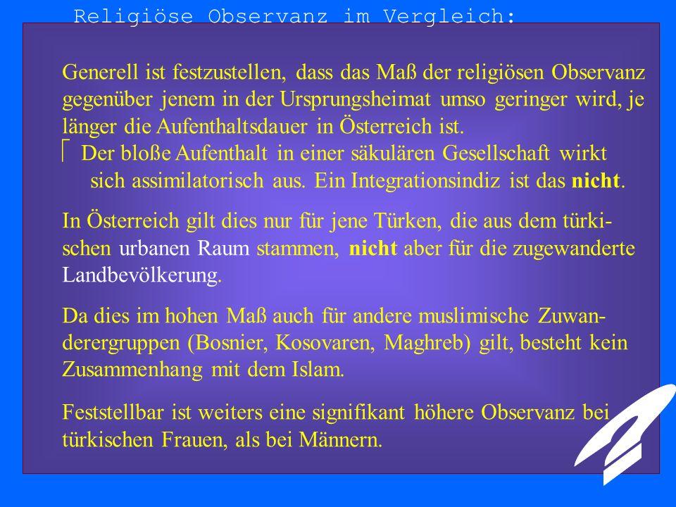 Religiöse Observanz im Vergleich: