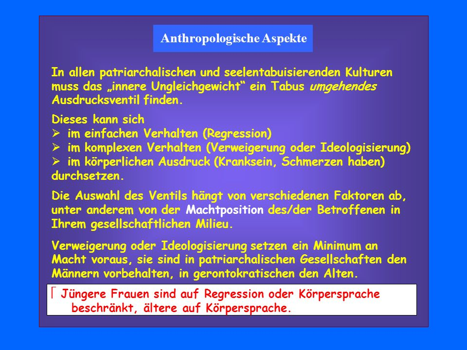 Anthropologische Aspekte