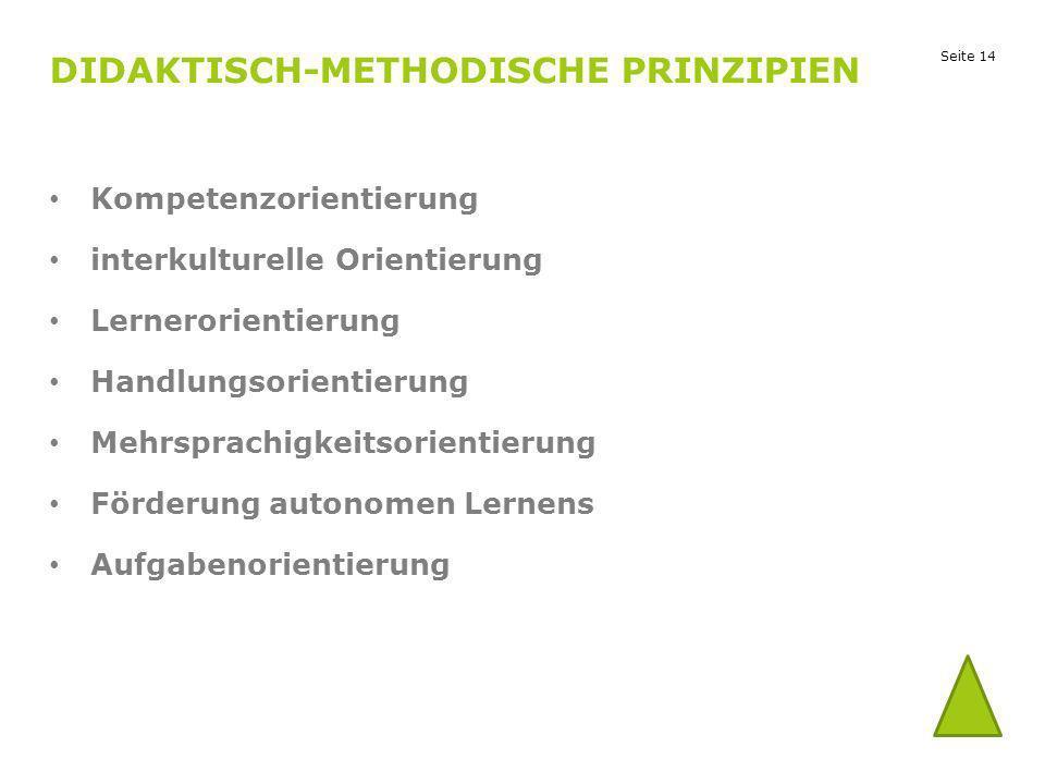 Didaktisch-methodische Prinzipien