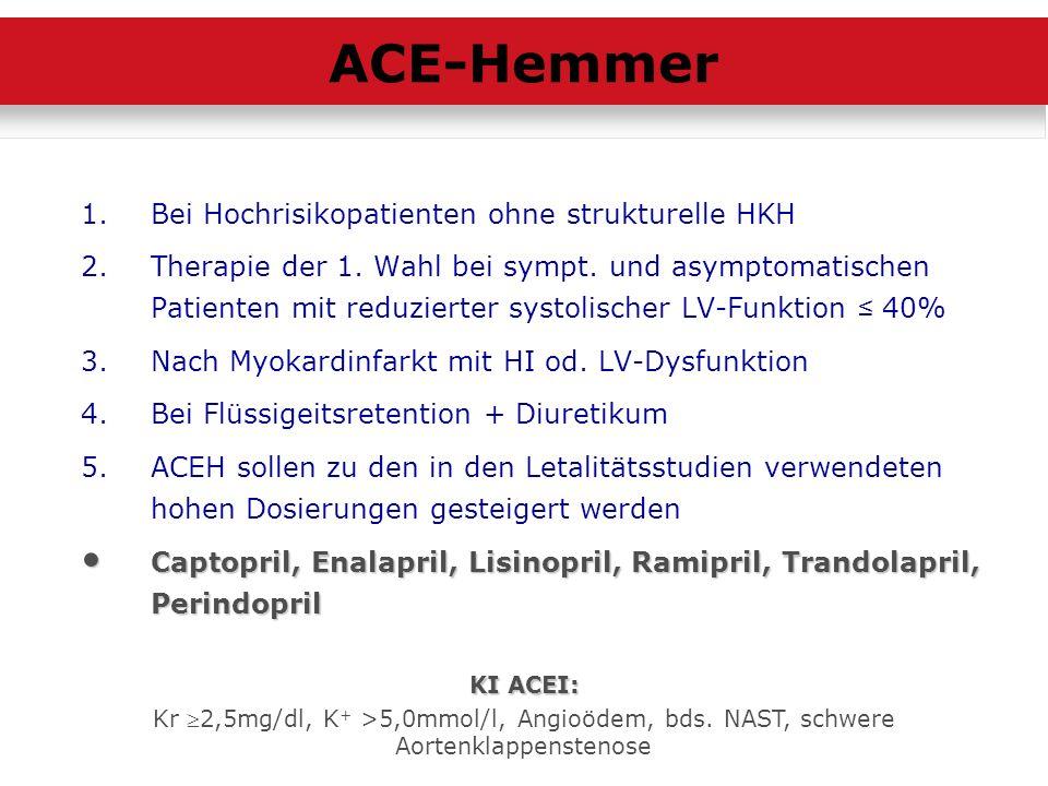 ACE-Hemmer Bei Hochrisikopatienten ohne strukturelle HKH