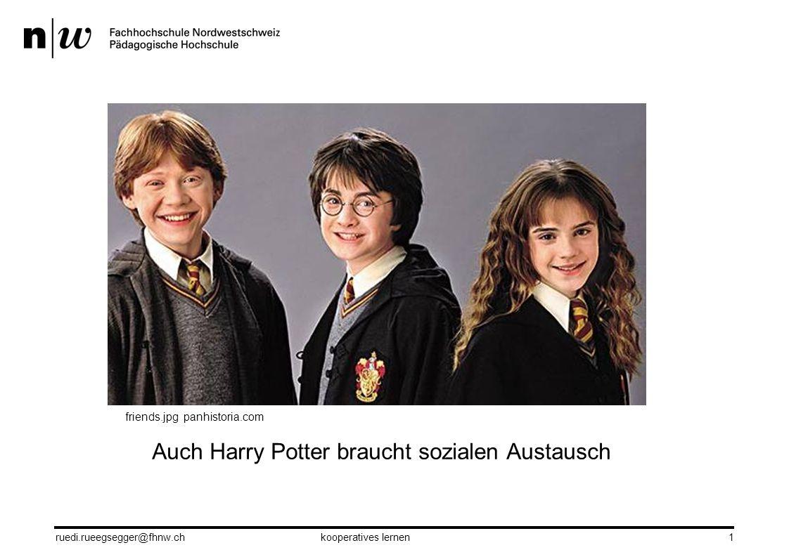 Auch Harry Potter braucht sozialen Austausch