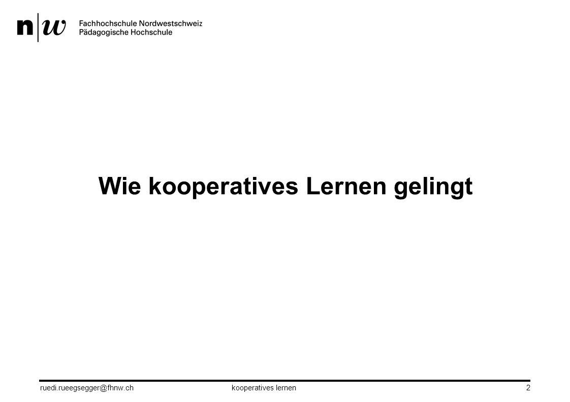 Wie kooperatives Lernen gelingt