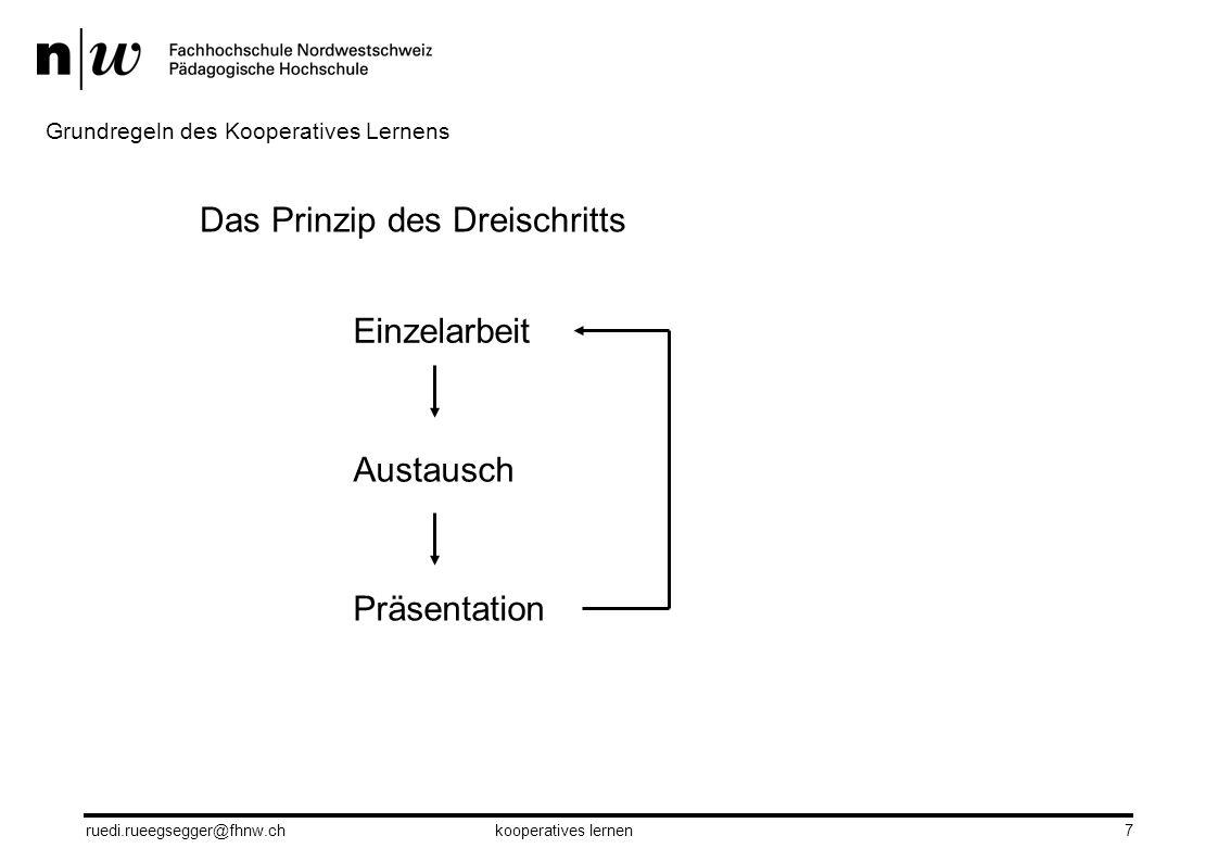 Das Prinzip des Dreischritts