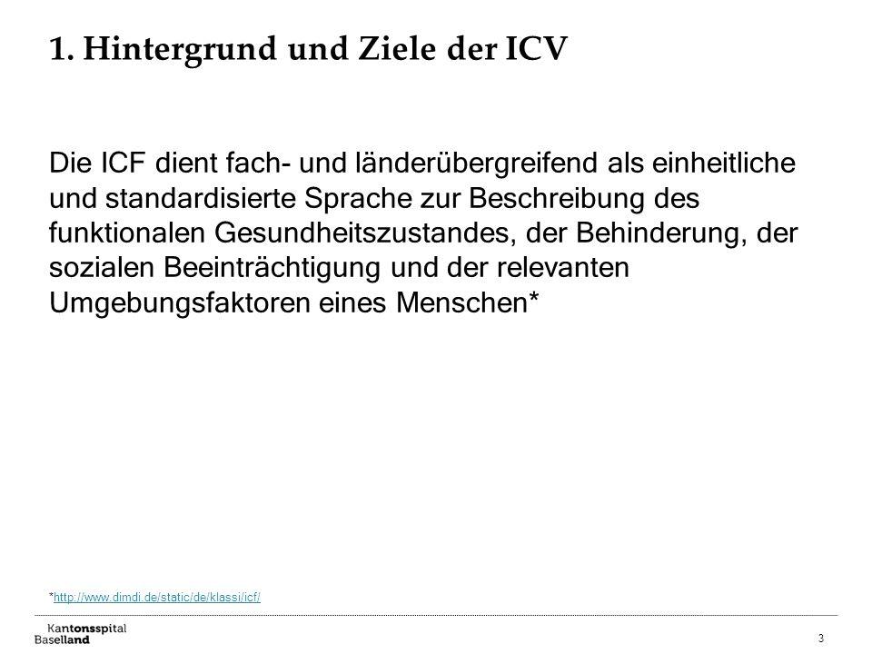 1. Hintergrund und Ziele der ICV