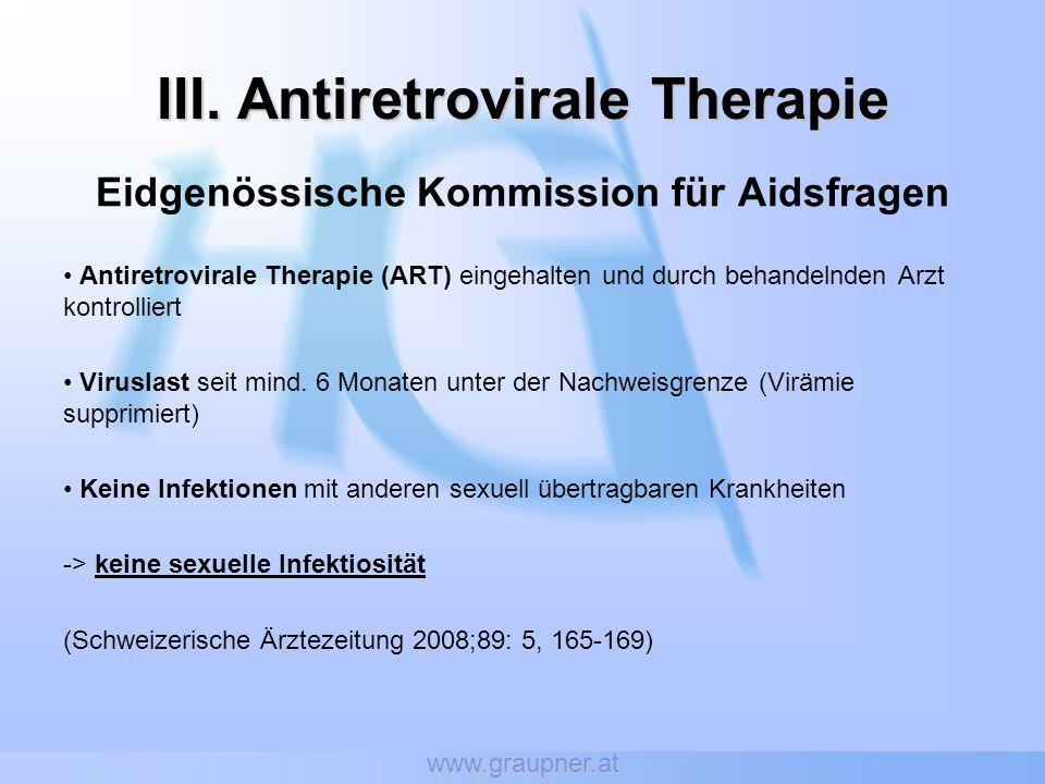 III. Antiretrovirale Therapie