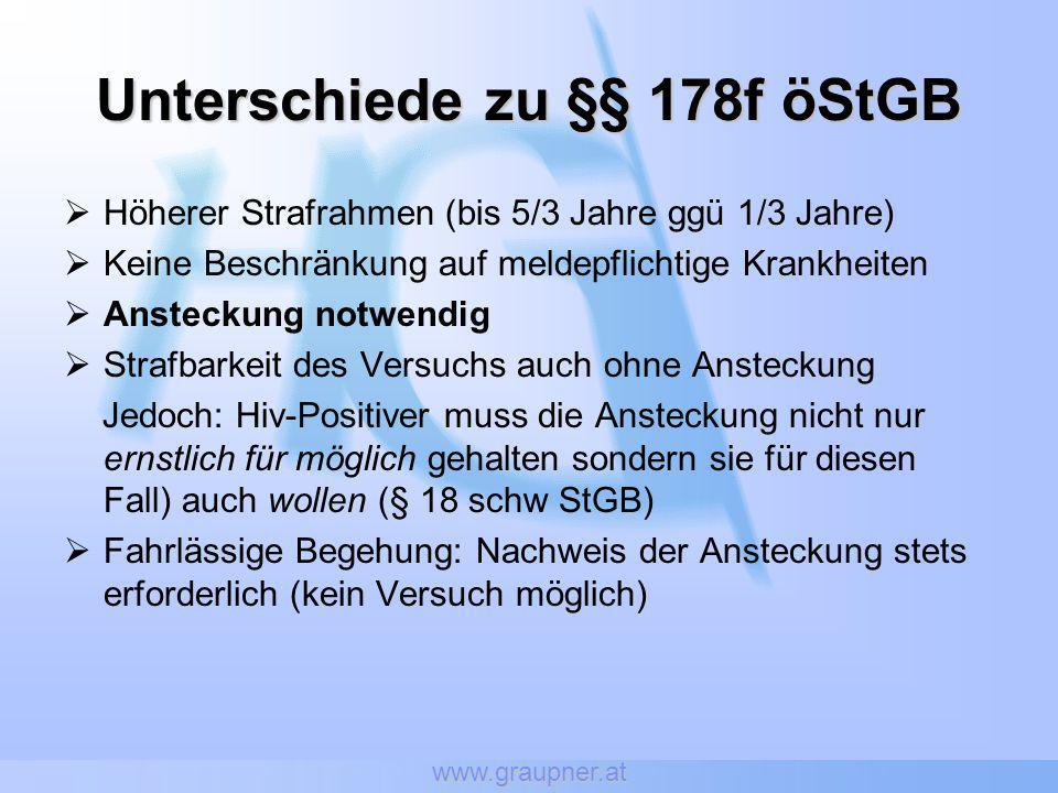 Unterschiede zu §§ 178f öStGB