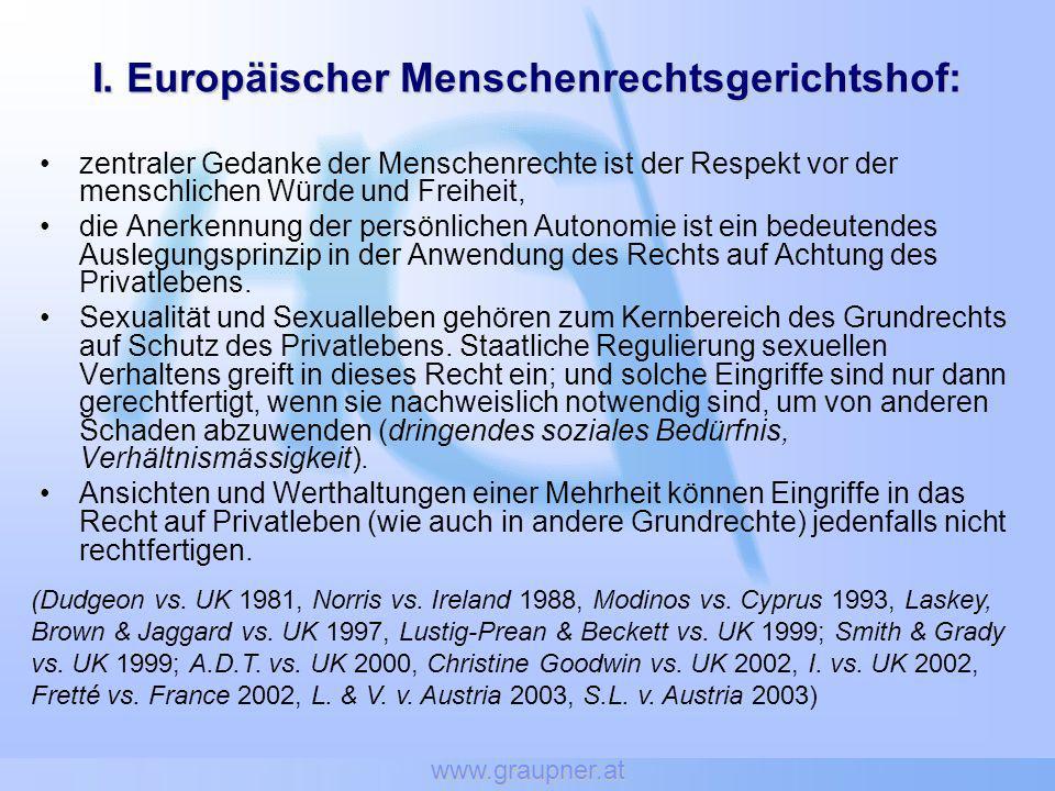 I. Europäischer Menschenrechtsgerichtshof: