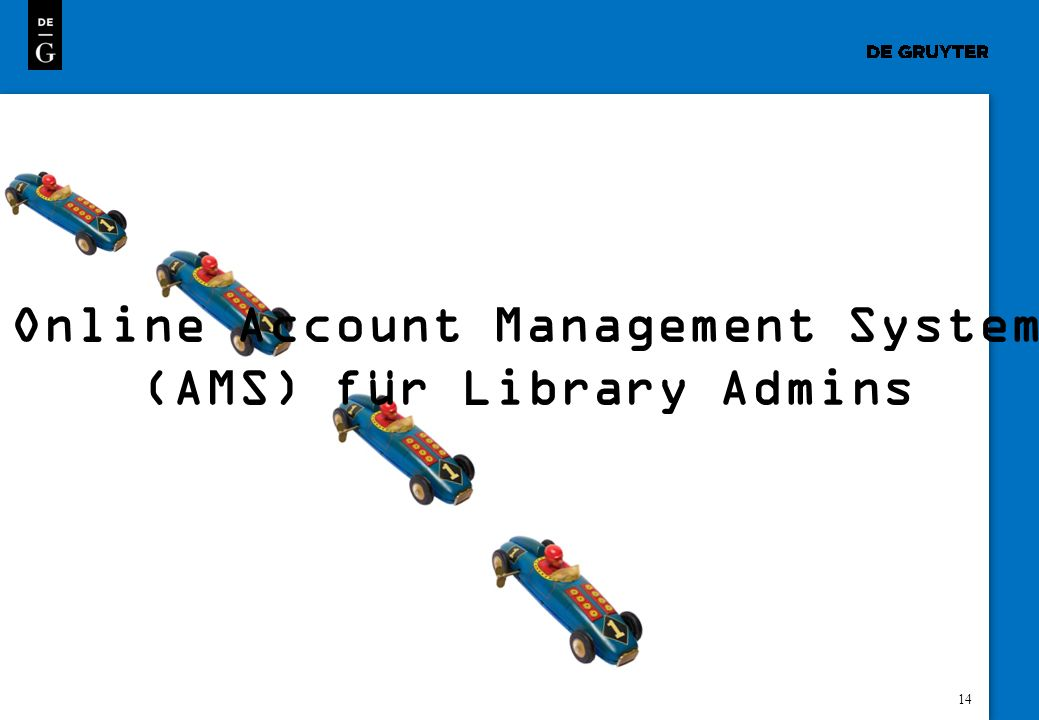 Online Account Management System (AMS) für Library Admins