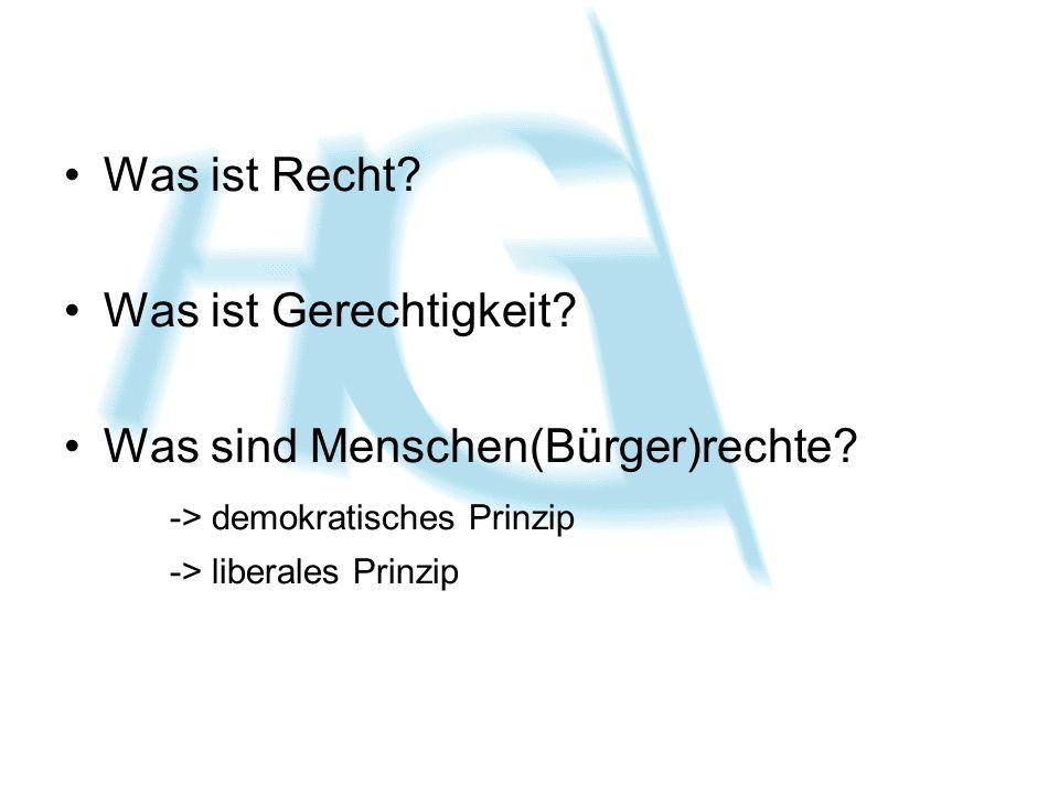 Was sind Menschen(Bürger)rechte -> demokratisches Prinzip