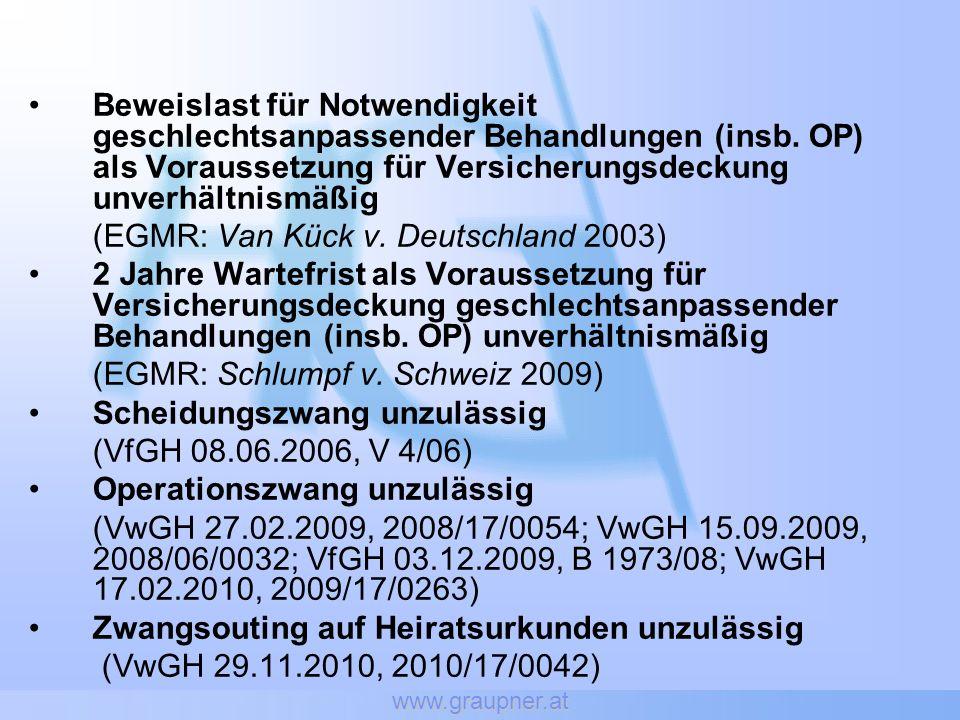 (EGMR: Van Kück v. Deutschland 2003)