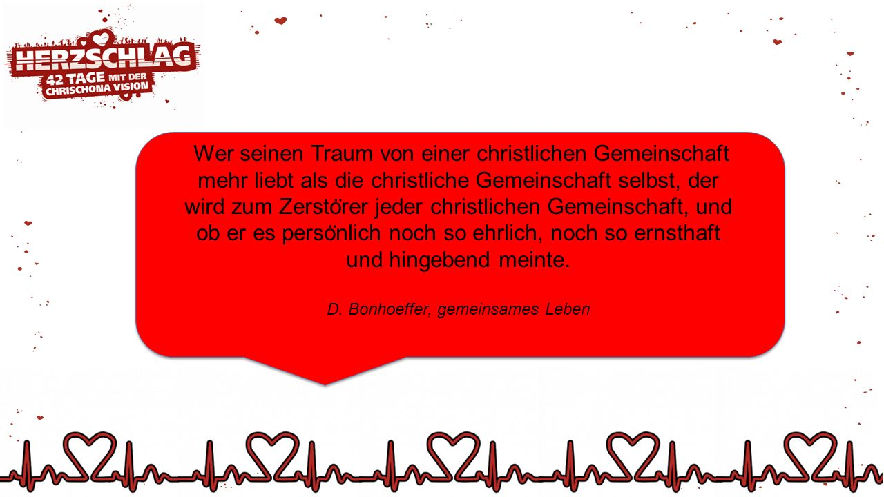 D. Bonhoeffer, gemeinsames Leben