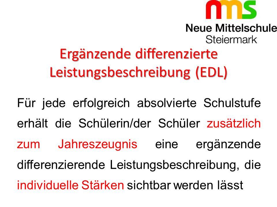 Ergänzende differenzierte Leistungsbeschreibung (EDL)