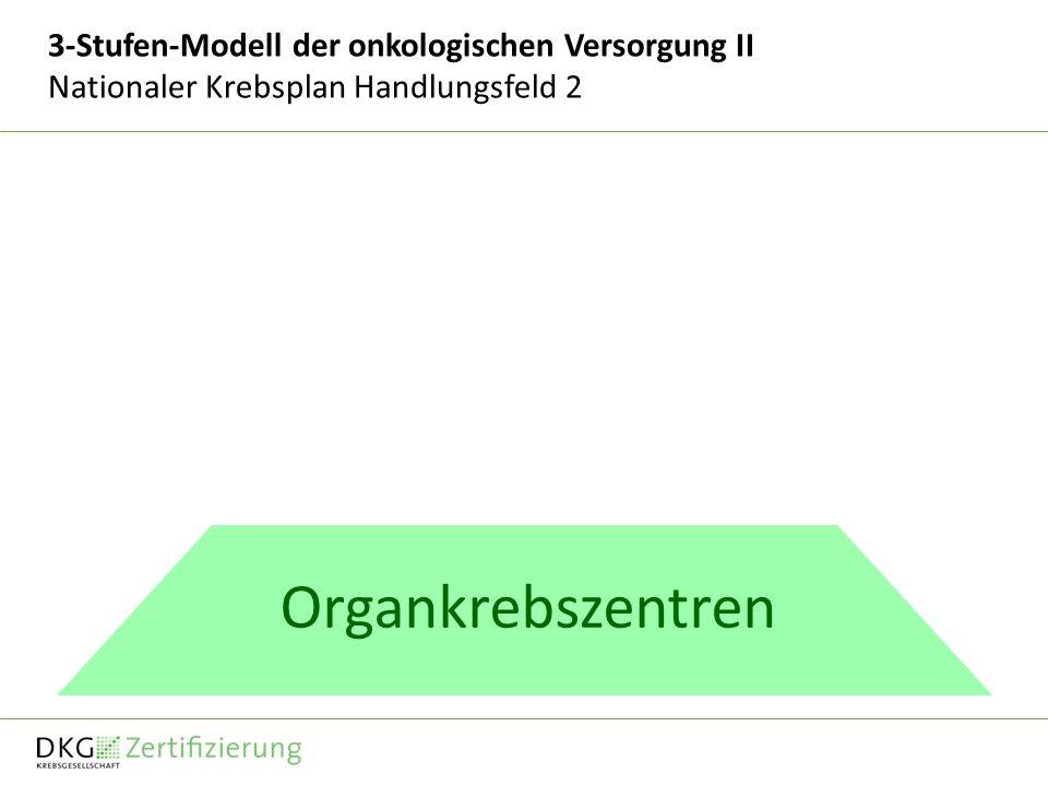 3-Stufen-Modell der onkologischen Versorgung II Nationaler Krebsplan Handlungsfeld 2