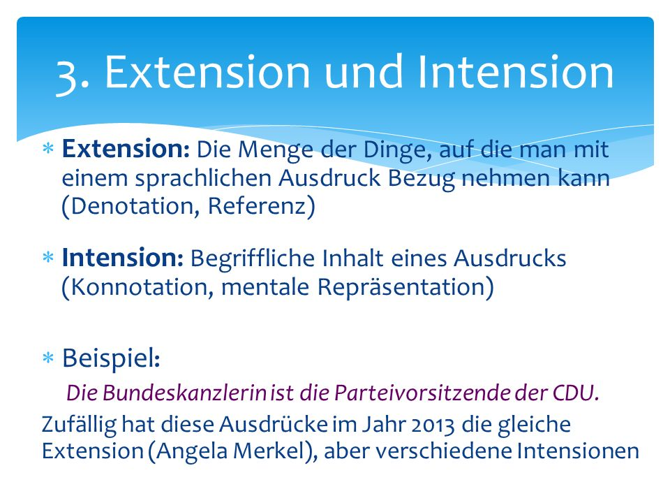 3. Extension und Intension