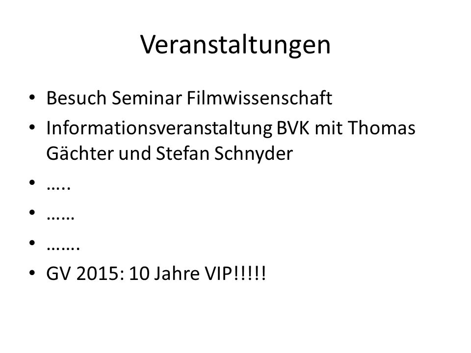 Veranstaltungen Besuch Seminar Filmwissenschaft