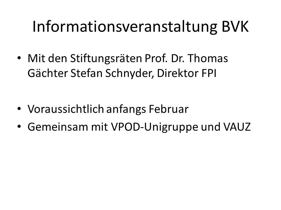 Informationsveranstaltung BVK