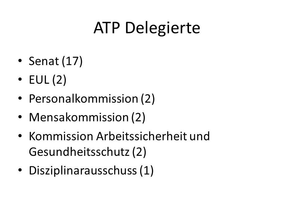 ATP Delegierte Senat (17) EUL (2) Personalkommission (2)