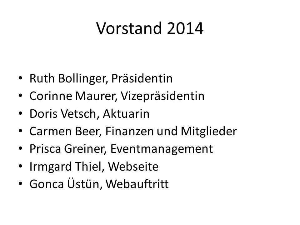 Vorstand 2014 Ruth Bollinger, Präsidentin