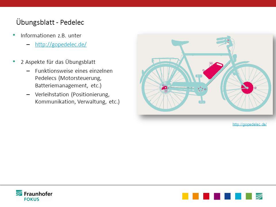 Übungsblatt - Pedelec Informationen z.B. unter http://gopedelec.de/