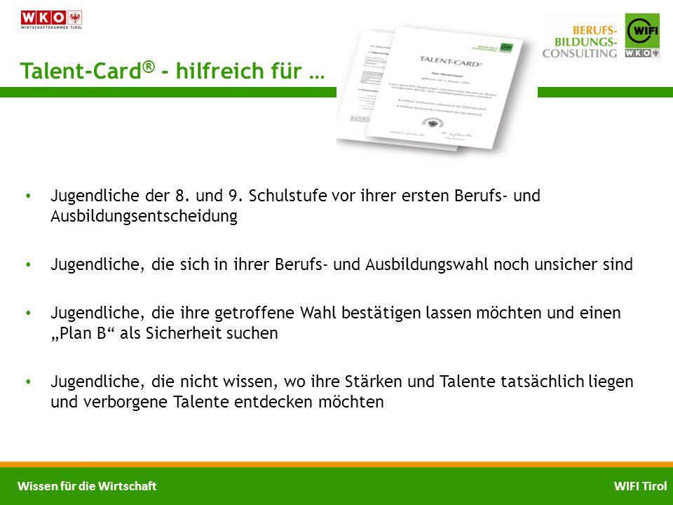Talent-Card® - hilfreich für …