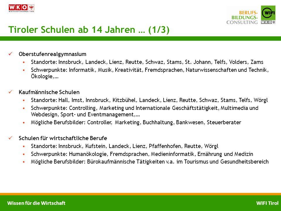 Tiroler Schulen ab 14 Jahren … (1/3)